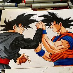 Had to do one Who's ready for #Goku vs #black raise of #dragonballz… - Visit now for 3D Dragon Ball Z shirts now on sal