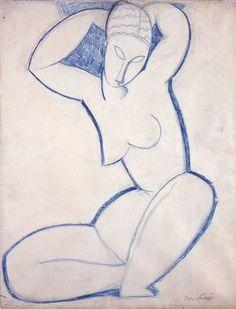 Caryatid - (1913-1914) Amedeo Modigliani
