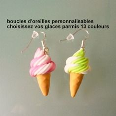 Boucles d'oreilles personnalisable, choisissez vos couleurs,