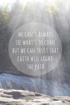 waterfall quote faith