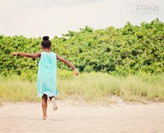 Lalalu Photography Blog: {Miami Child Photographer} | Sydney's Birthday Beach Session Gorgeous girl! Beach photo session; Birthday session; Light blue homemade dress; photographer's notes; Lalalu photography | Miami Child Photographer | Dania Beach, FL
