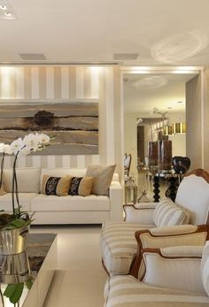 Beautiful beige living room