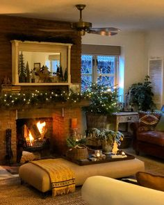 Image may contain: people sitting, living room, table and indoor Living Room Decor On A Budget, Simple Living Room, Living Room Modern, My Living Room, Country Cottage Living Room, Country Cottages, Cosy Room, Christmas Room, Cottage Interiors