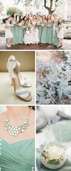 Grayed Jade Wedding Inspiration #wedding-pinned by wedding decorations specialists http://dazzlemeelegant.com