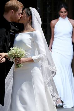 Meghan Markle wedding dress and evening gown: Which Royal Wedding dress did the public prefer? Meghan Markle Prince Harry, Prince Harry And Megan, Second Wedding Dresses, One Shoulder Wedding Dress, Megan And Harry Wedding, Meghan Markle Wedding Dress, Meghan Markle Style, Royal Clothing, Royal Weddings