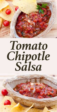 Tomato-Chipotle Salsa - With roasted tomatoes and smokey chipotle, this salsa is a step up from the traditional stuff.