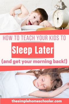 Are you tired of your kids waking up way too early? Do you desperately want a predictable morning time back? Let me show you an incredible sleep hack that trained all three of my kids to wake up at 7am every morning. I have passed this tip down to many friends and family with awesome results! I am excited to share how easy it is to have a peaceful, calm, predictable morning again! #homeschoolmorning #smarttips #hacks #sleepsolutions #homeschool