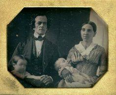 Parents, Babies, date unknown. Daguerreotype.
