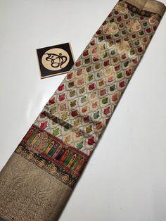 Banarasi Sarees, Silk Sarees, Floral Blouse, Floral Tie, Floral Crib Sheet, Bridal Silk Saree, Fb Page, Hand Embroidery Designs, Crib Sheets