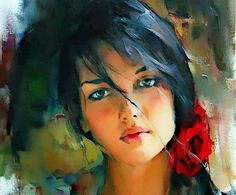 Awesome Painting - she's so pretty looks like if you mix my sis Mel and cousin katlyn