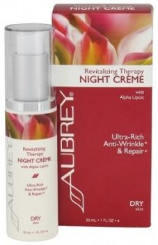 New and spectacular, Aubrey Organics Revitalizing Therapy Night Crème - ultra rich and antioxidant for dry skin