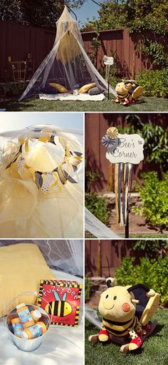 Backyard Bumble Bee Birthday Party - On to Baby