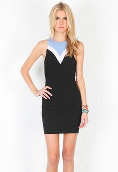 Naven Siren Dress in Black/Periwinkle/Rose $148