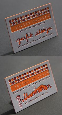 Bold Two Colour Letterpress Business Card For A Graphic Designer Letterpress Business Cards, Unique Business Cards, Business Card Design, Letterhead Design, Branding Design, Visiting Card Design, Creative Cards, Creations, Graphic Design