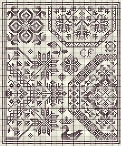 Free cross stitch pattern - quaker