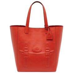Mulberry - North South Maisie Tote in Flame Polished Calf