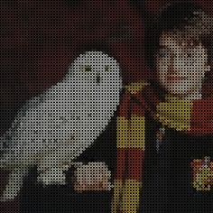 harry potter and hedwig perler beads