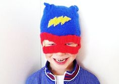Instant Download  Super Hero Hat  PDF knitting by MissMinoes, €2.50