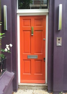 Bright Orange Front Door Paint Color That Looks Like Sherwin Williams  Obstinate Orange SW 6884