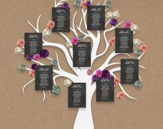 Wedding table plan printable chalkboard seating plan, DIY seating chart wedding Ideas, edit in Word, print trim and pin on your board