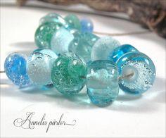 SRA handmade lampwork beads Artisan Swedish glass by Annelibeads