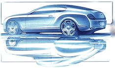 OG | 2002 Bentley Continental GT - R Type 1952 | Design sketch by Raul Pires