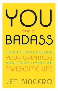 You Are a Badass by Jen Sincero ~ the yellow will bring a pop of color to your decor and everyone needs that reminder, even your guests.  #youareabadass #books #bookdecor