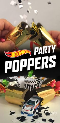 Surprise your kids with Hot Wheels gifts inside these DIY New Year's Eve party poppers. Get instructions here.