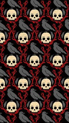 The perfect wallpaper design!! #skull