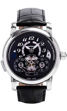 Montblanc Nicolas Rieussec Chronograph Open Home Time (Style No: 107070) from SwissLuxury.Com