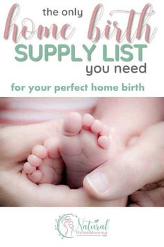 Jun 2019 - This is the complete home birth checklist you need as you gather supplies for your home birth. It includes everything needed for birth, baby, and postpartum. Pregnancy Goals, Pregnancy Info, Pregnancy Care, Pregnancy Health, Natural Birthing, Birthing Center, Water Birth, Postpartum Care, Bebe