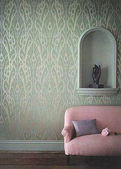 Ikat Wallpaper by Jim Thompson