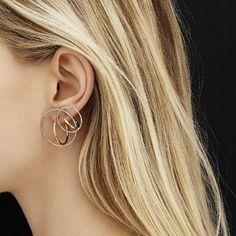 Saturn earring medium and small. Or creating a solar system on your ear. #charlottechesnais