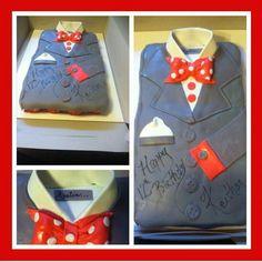 Suit cupcake cake bow tie