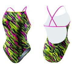 Image detail for -Women's Polyester Racing Print Swimwear and Swimsuits at SwimtoWin.com ...