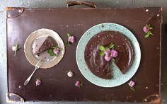 Rawfood Tårta Choklad och karamellpaj