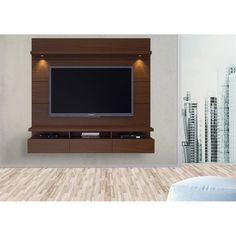 Manhattan Comfort Cabrini Floating Wall Theater Entertainment Center for TVs up to Multiple Colors Floating Entertainment Center, Tv Entertainment Centers, Entertainment System, Home Theater, Tvs, Tv Stand And Panel, Tv Feature Wall, Rack Tv, Modern Tv