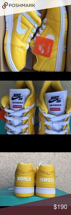 Supreme Nike SB Air Force 2 Yellow Size 11 BNIB Deadstock/Sold Out Supreme Nike SB Air Force 2 Yellow Size 11 BNIB Supreme Shoes Athletic Shoes