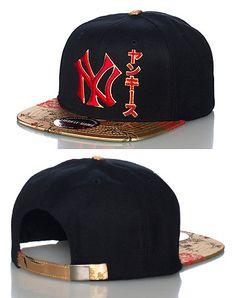 e51b9961719 AMERICAN NEEDLE MENS NY YANKEES MLB CHIBA STRAPBACK CAP BLACK Strapback Cap