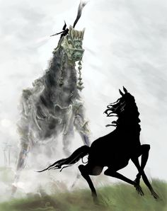 Shadow of the Colossus . Horse Dance, Nostalgic Art, Last Shadow, Creature Feature, High Fantasy, Video Game Art, Magical Creatures, Anime, Concept Art