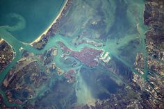 Space Station Flight Over Venice: Expedition 50 Flight Engineer Thomas Pesquet of the European Space Agency shared this photograph from the International Space Station on Feb. 14 2017 writing \