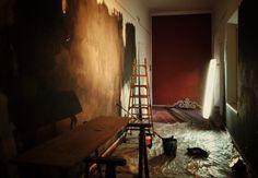 FIRST DAY _ Málaga _ 3rd ACT 'Among fugue & return' _ Walls almost ready !