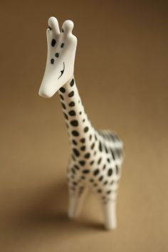 Art deco porcelain: Giraffe - Hollóháza