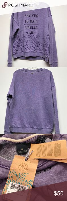 Scotch R'belle nwt 12 sweatshirt say yes to rain Scotch R'belle nwt 12 sweatshirt say yes to rain softest sweatshirt ever.  Brand new. Consigned to my boutique no trades. Scotch R'Belle Shirts & Tops Sweatshirts & Hoodies