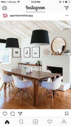 love these pendant lights for a dining room - maybe just one over a round table?