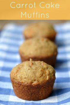 I love these carrot cake muffins! They're one my favorite healthy snacks.