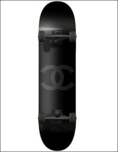 Chanel skateboard deck