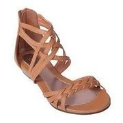 braided strappy sandal. lovelovelove.