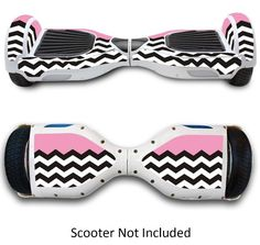 Electric Scooter Skin Sticker Case For Hoverboard Protective Cover Pink Chevron #GameXcel