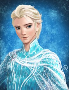 Elsa genderbend. Usually I don't like gender bending , but this is beautiful.